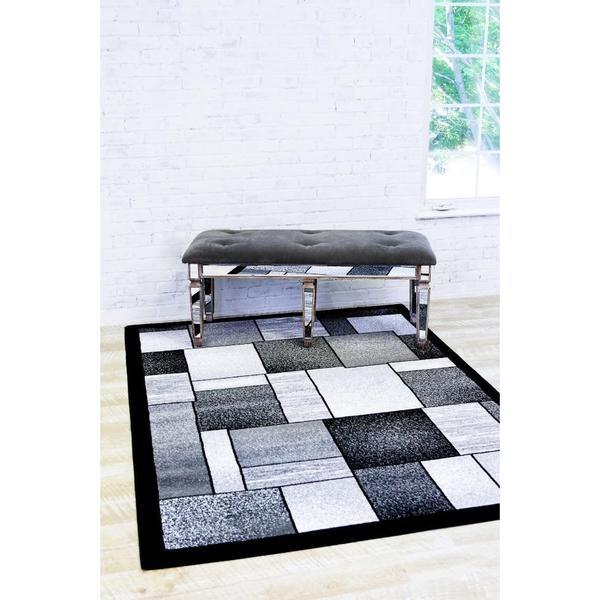 "Persian Rugs Modern Trendz Grey/Multicolor Polypropylene Area Rug - 7'10"" x 10'6"""
