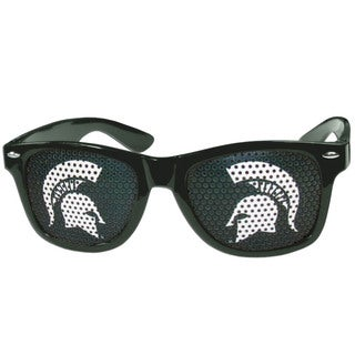 Collegiate Michigan State Spartans Black Plastic Game Day Shades