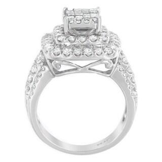 14k White Gold 1 1/2ct TDW Princess Diamond Ring