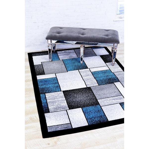 """Persian Rugs Modern Trendz Multicolor Turquoise Area Rug - 7'10"""" x 10'6"""""""