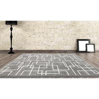 """Persian Rugs Taksim Collection Puzzling Lines Area Rug - 2' x 3'4"""""""