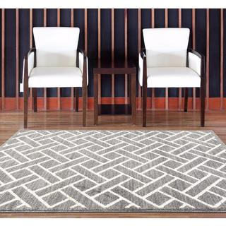 Persian Rugs Taksim Collection Squared Shaped Area Rug (7'10 x 10'6)