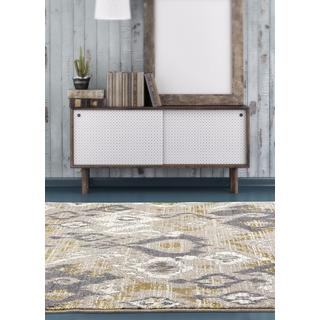 Persian Rugs Beverly Collection Abstract Beige Area Rug (5'2 x 7'2)