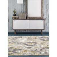 "Beverly Collection Beige Polypropylene Persian Abstract Area Rug - 7'10"" x 10'6"""