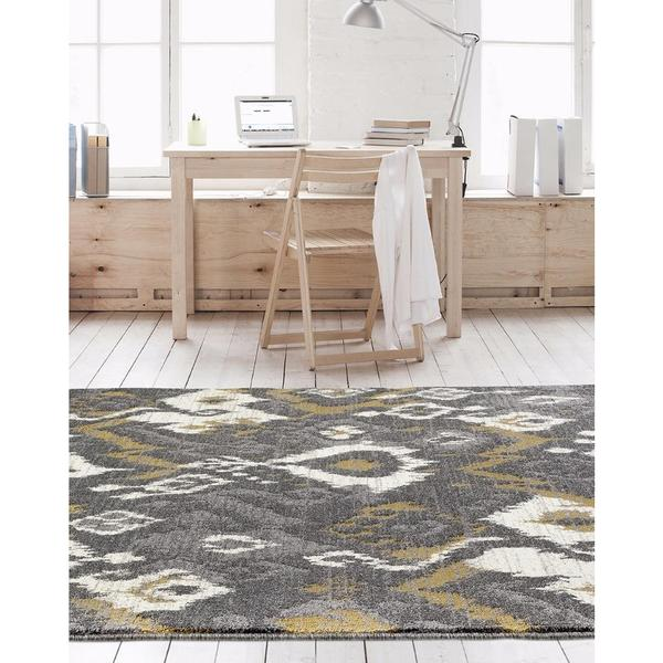 "Beverly Collection Persian Grey Abstract Area Rug - 7'10"" x 10'6"""
