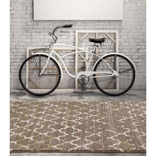 Persian Rugs Beverly Collection Morrocan Trellis Cream Area Rug (7'10 x 10'6)