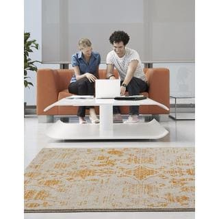 Persian Rugs Beverly Collection Rustic Orange Design Beige Area Rug (7'10 x 10'6)