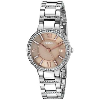 Fossil Women's ES4147 'Virginia' Crystal Stainless Steel Watch