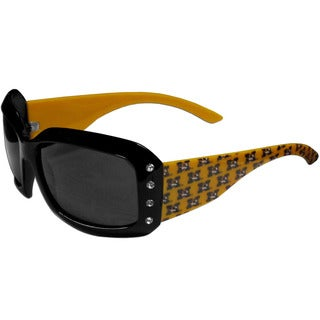 Collegiate Missouri Tigers Women's Yellow and Black Designer Sunglasses