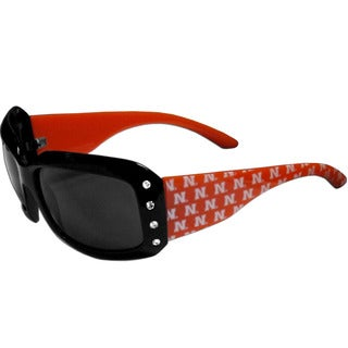 Women's Black Red Plastic Collegiate Nebraska Cornhuskers Sunglasses