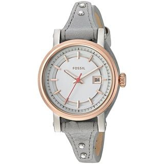Fossil Women's ES4126 'Original Boyfriend Sport' Grey Leather Watch