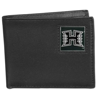 Collegiate Hawaii Warriors Leather Bi-fold Wallet in Gift Box