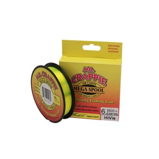 Lews Fishing Mr. Crappie 500 Yard Filler Spool HiVis, 6 lb
