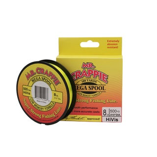 Lews Fishing Mr. Crappie HiVis 8-pound Test 500-yard Filler Spool