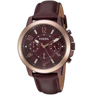 Fossil Women's ES4116 'Gwynn' Chronograph Crystal Red Leather Watch