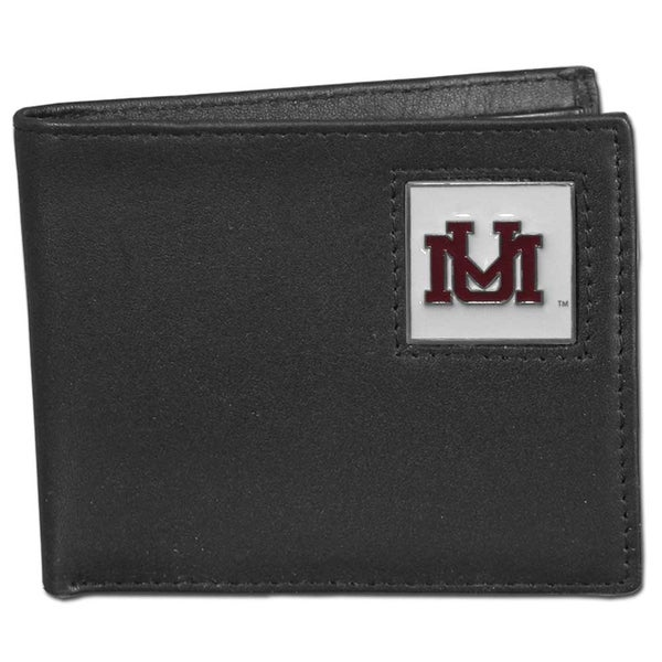 Collegiate Montana Grizzlies Leather Bi-fold Wallet in Gift Box