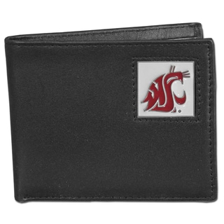 Collegiate Washington State Cougars Leather Bi-fold Wallet in Gift Box