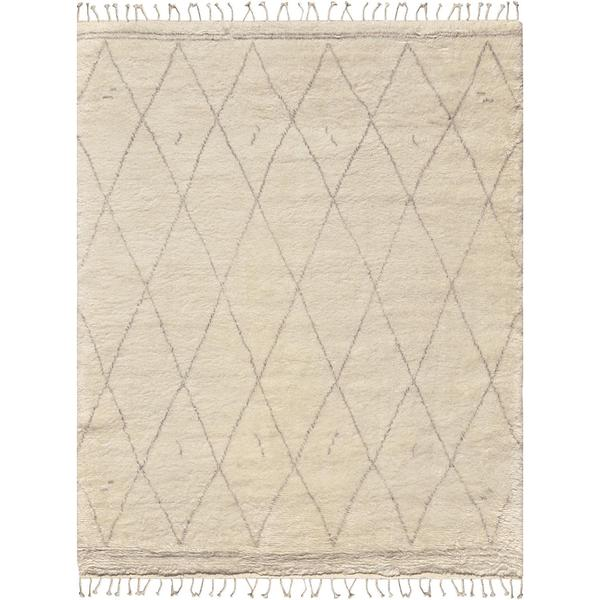 Pasargad X27 S Casablanca Collection Moroccan Ivory Wool Hand Knotted Runner Rug