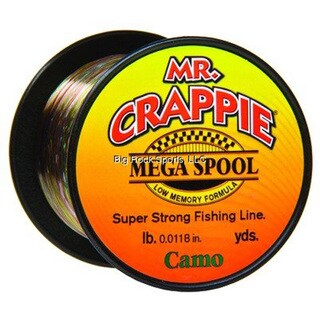 Lews Fishing Mr. Crappie Camo 8-pound Mega Spool Fishing Line