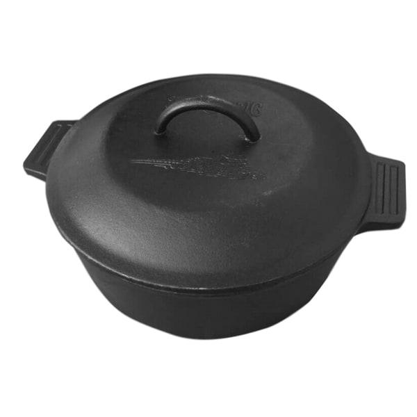 Shop Bayou Classic Black Cast Iron 4 Quart Dutch Oven With Lid