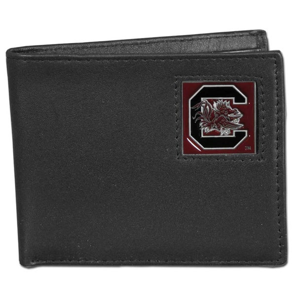 Collegiate South Carolina Gamecocks Leather Bi-fold Wallet in Gift Box