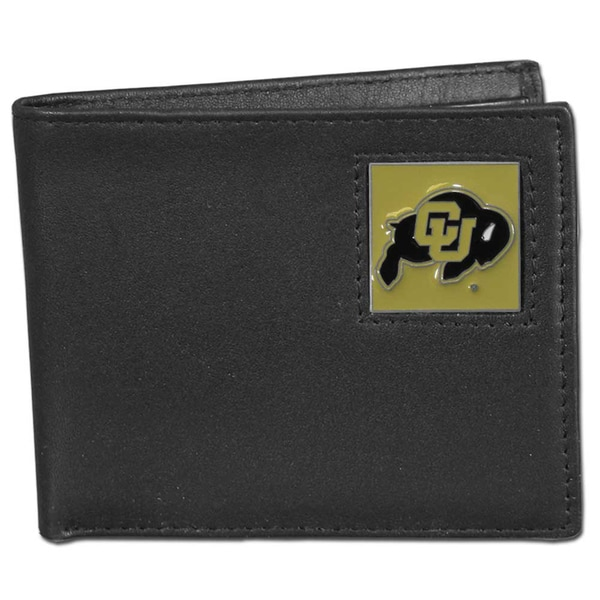 Collegiate Colorado Buffaloes Leather Bi-fold Wallet in Gift Box