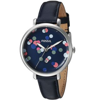 Fossil Women's ES4103 'Jacqueline' Blue Leather Watch