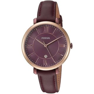 Fossil Women's ES4099 'Jacqueline' Red Leather Watch