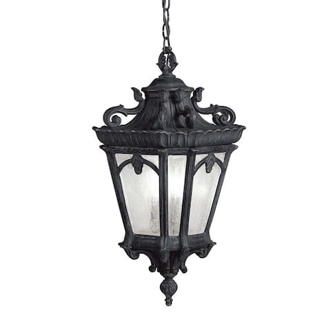 Kichler Lighting Tournai Collection 3-light Textured Black Outdoor Pendant