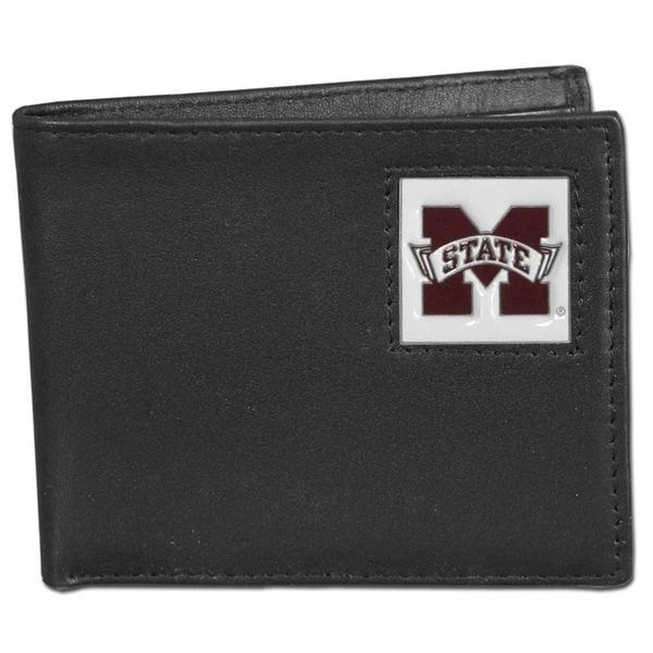 Collegiate Mississippi State Bulldogs Leather Bi-fold Wallet in Gift Box