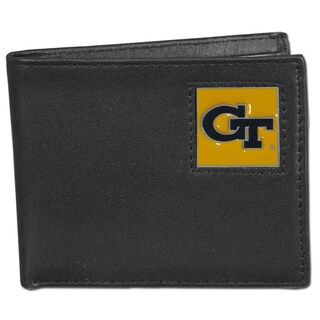 Collegiate Georgia Tech Yellow Jackets Leather Bi-fold Wallet in Gift Box