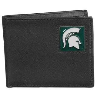 Collegiate Michigan State Spartans Leather Bi-fold Wallet in Gift Box