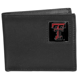 Collegiate Texas Tech Raiders Leather Bi-fold Wallet in Gift Box