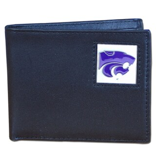Collegiate Kansas State Wildcats Leather Bi-fold Wallet in Gift Box