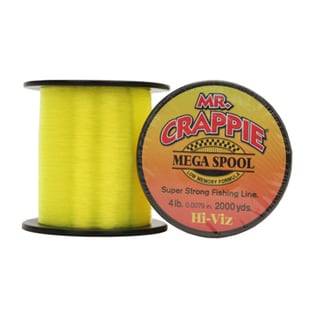 Lews Fishing Mr. Crappie Mega Spools HiVis, 4 lb