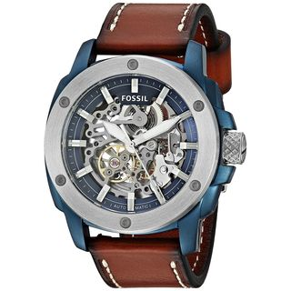 Fossil Men's ME3135 'Modern Machine Sport' Automatic Brown Leather Watch