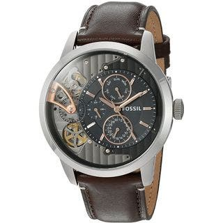 Fossil Men's ME1163 'Townsman Mechanical Twist' Multi-Function Brown Leather Watch|https://ak1.ostkcdn.com/images/products/13475404/P20161987.jpg?impolicy=medium