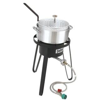 Bayou Classic Aluminum Fry Pot w/ 10psi cooker