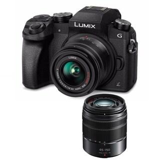 Panasonic Lumix DMC-G7 Mirrorless Micro Four Thirds with 14-42mm Lens H-FS45150AK 45-150mm(Black)