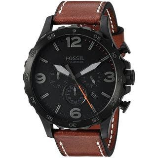 Fossil Men's JR1524 'Nate' Chronograph Brown Leather Watch|https://ak1.ostkcdn.com/images/products/13475415/P20161984.jpg?impolicy=medium