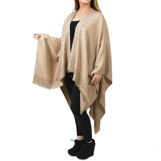 Handmade Saachi Women's Diamond Open Front Poncho (China)