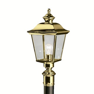 Kichler Lighting Bay Shore Collection 1-light Polished Brass Outdoor Post Lantern