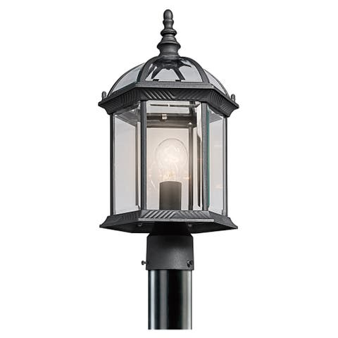 Gracewood Hollow Lleshanaku 1-light Black Outdoor Post Lantern
