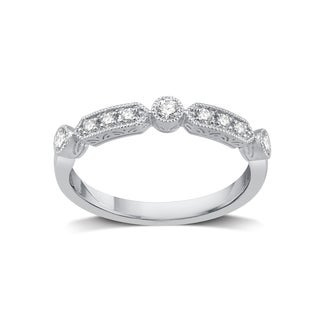 Sterling Silver 1/5ct TDW Diamond Stackable Wedding Band (I-J, I2)