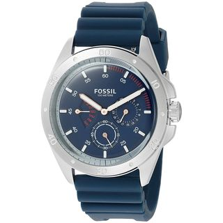 Fossil Men's CH3062 'Sport 54' Multi-Function Blue Silicone Watch