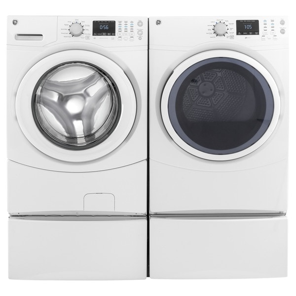 ge frontload electric dryer and frontload washer set free shipping today overstock 20162020. Black Bedroom Furniture Sets. Home Design Ideas