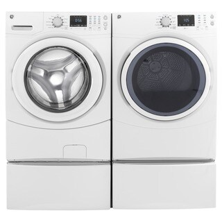 GE Laundry Pair with 7.5-cubic Feet Capacity Frontload Electric Dryer and 4.3-cubic Feet Capacity Fr