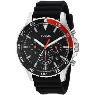 Fossil Men's CH3057 'Crewmaster Sport' Chronograph Black Silicone Watch