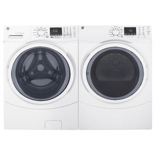 GE Steam Laundry Pair with 7.5-cubic Feet Capacity Front Load Electric Dryer and 4.5-cubic Feet Capa