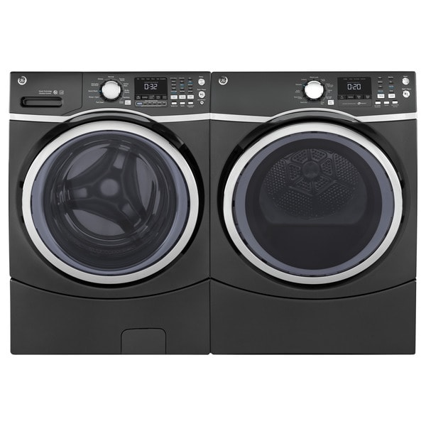 shop ge steam laundry pair with 7 5 cubic feet capacity front load electric dryer and 4 5 cubic. Black Bedroom Furniture Sets. Home Design Ideas